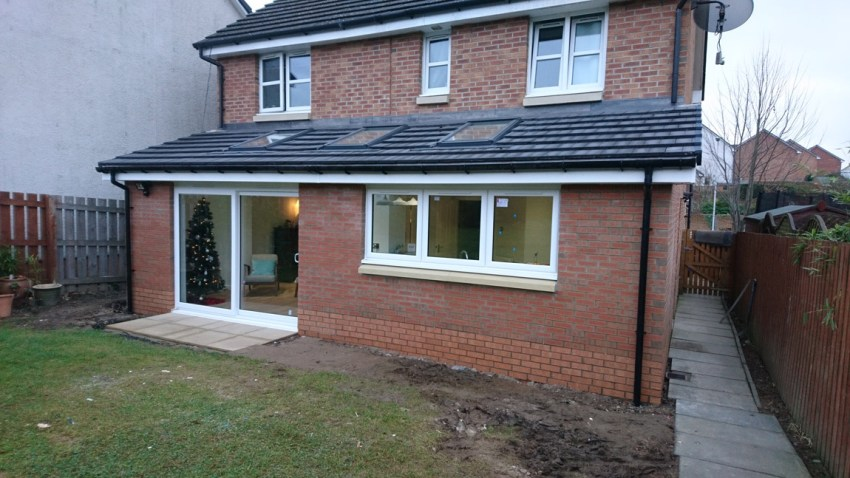 triple velux roof windows over new extension