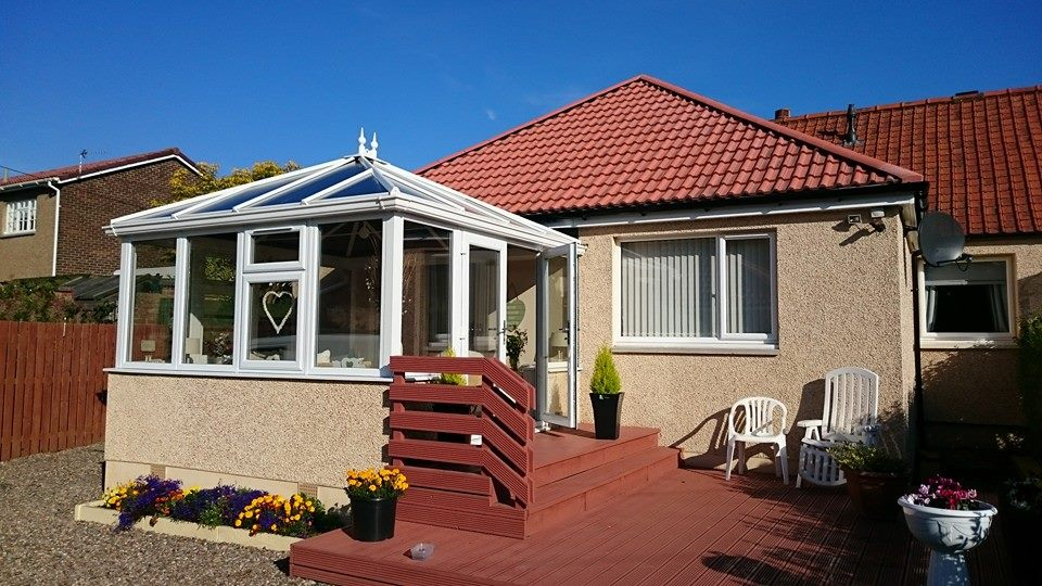 white pvcu edwardian style conservatory