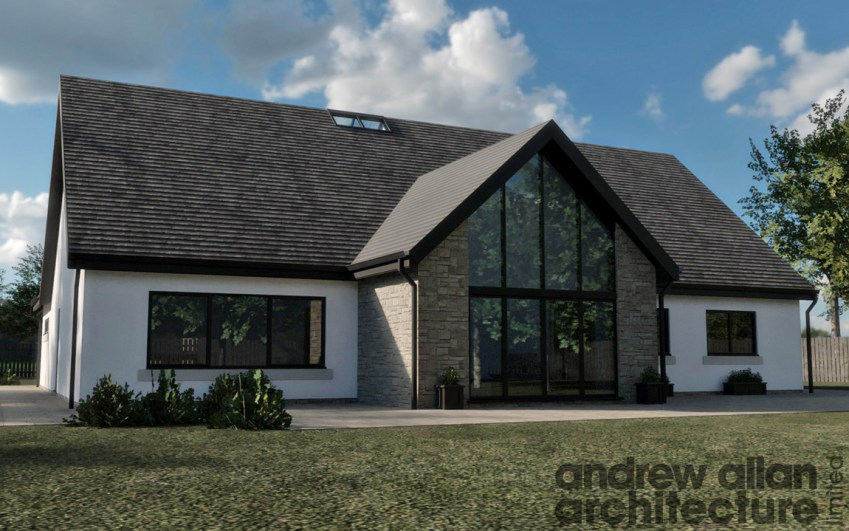 3D render of new build project