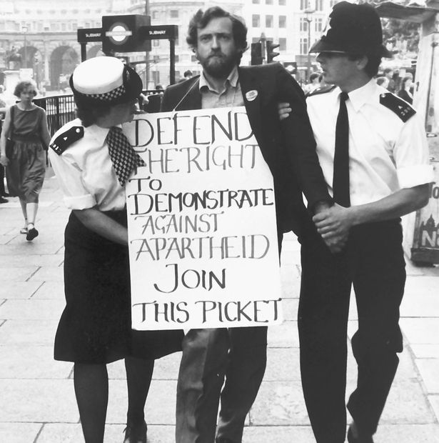 Jeremy Corbyn opposing apartheid