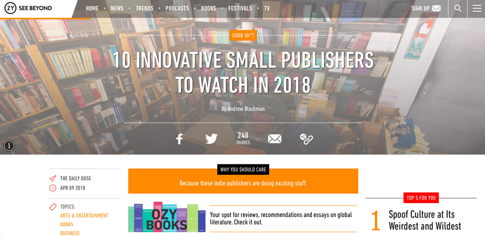 innovative small publishers to watch in 2018