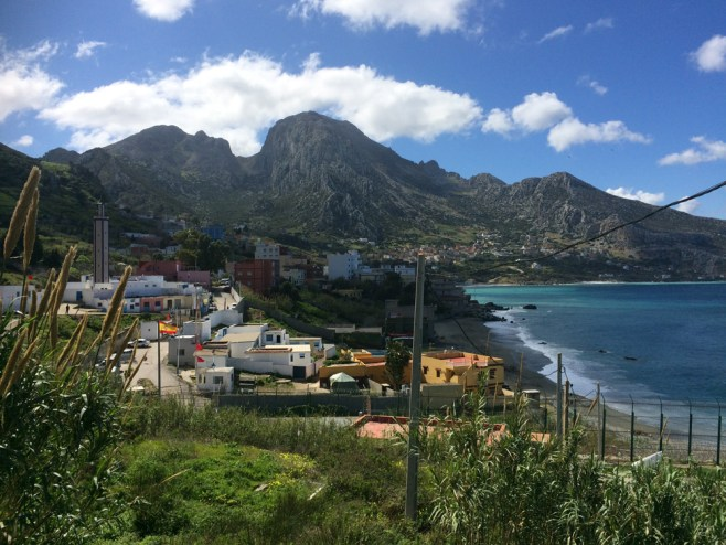 Ceuta on the Spanish border with Morocco