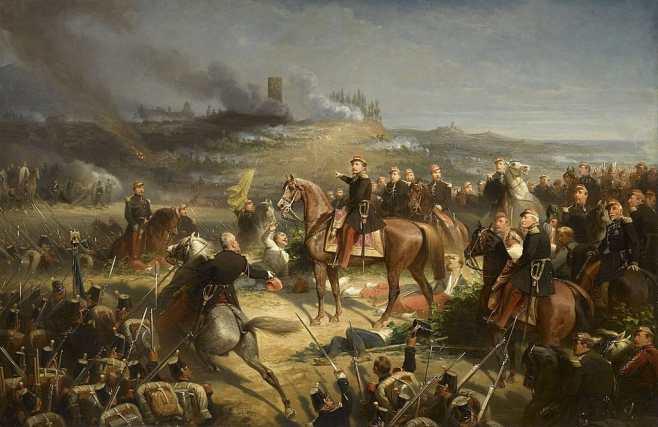 Battle of Solferino painting