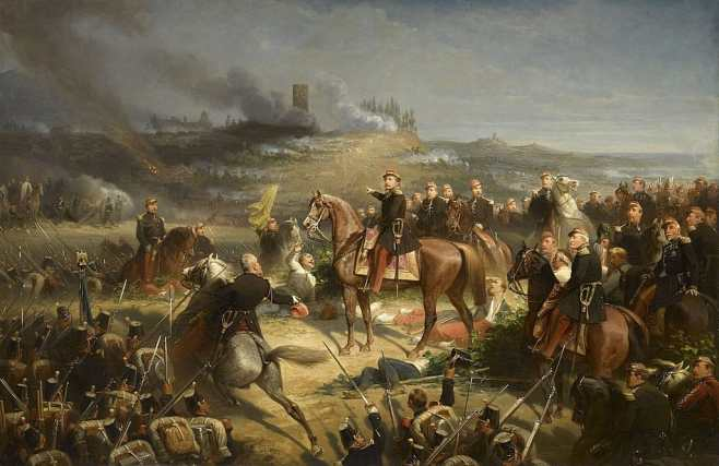 Battle of Solferino painting