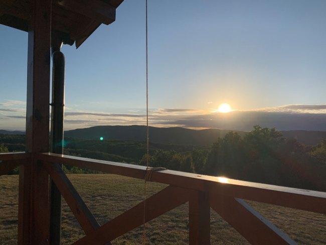 View from Villa Promaja in Serbia