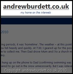 andrewburdett.co.uk screenshot name