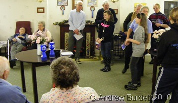 CHRISTMAS IN THE COMMUNITY_Singing carols at Neave House
