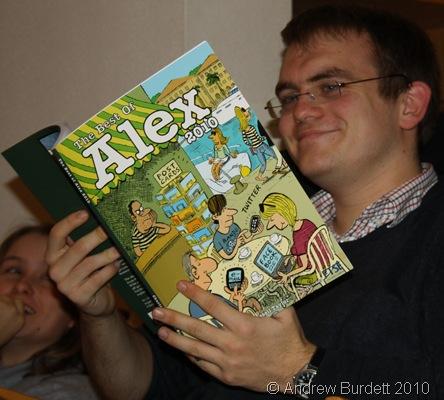 ALEX BOOK_Matthew, my brother, enjoying his new book.