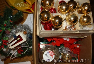 BOXEDUP_The tree has been tidied away and baubles are returned to their box.