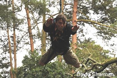IS IT A BIRD_Adam Littleboy flies through the trees, ninja-style.