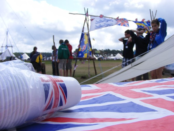 NICE TOUCH_Union Flag products in our camp.