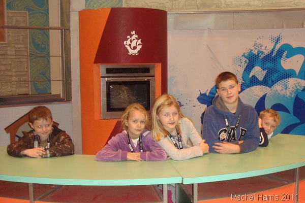 THE FULL SET-UP_Children from the St Luke's group try out the old Blue Peter set.