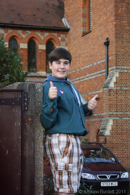 WELCOME_Josh Parkman on the gates.