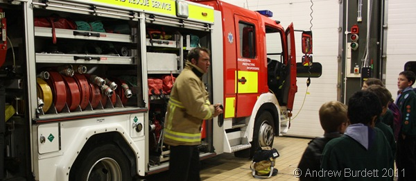 THE HOSE CUPBOARDS_Each engine has hoses, pumps, and powerful metal cutters for removing the roofs of cars.