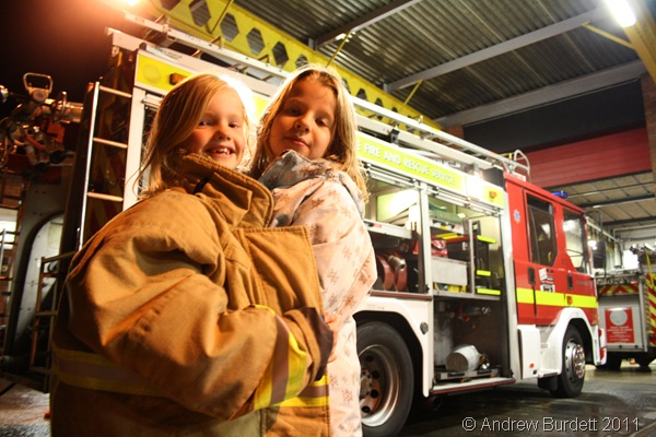 WRAPPED UP TIGHT_Two of the Cubs fitted into one of the fireproof jackets!