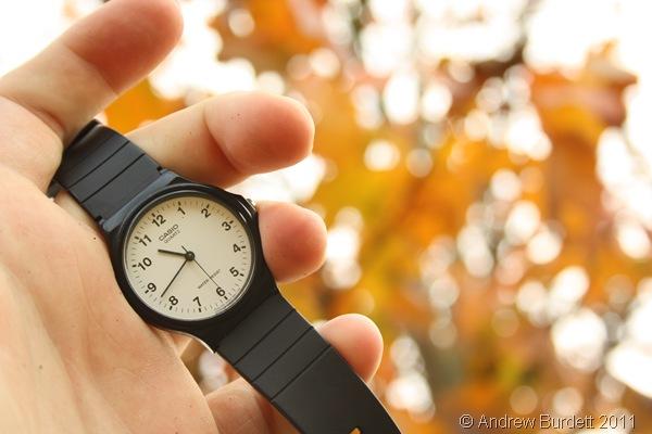 CLOCKS GO BACK_Tonight, the clocks 'fall' back, to rejoin GMT.