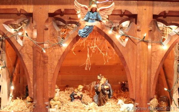 CRIB SCENE_The Christmas crib scene, as seen under the high altar.
