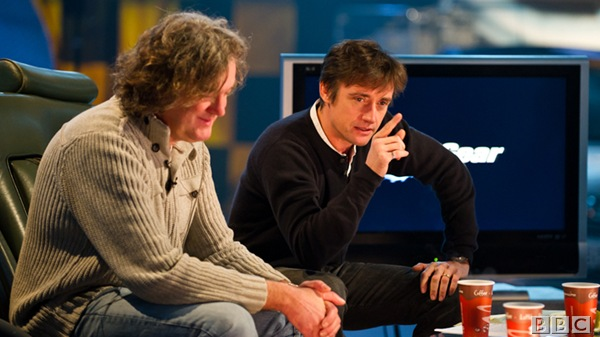THE BOYS ARE BACK: James May and the Hamster in studio rehearsals on Wednesday.