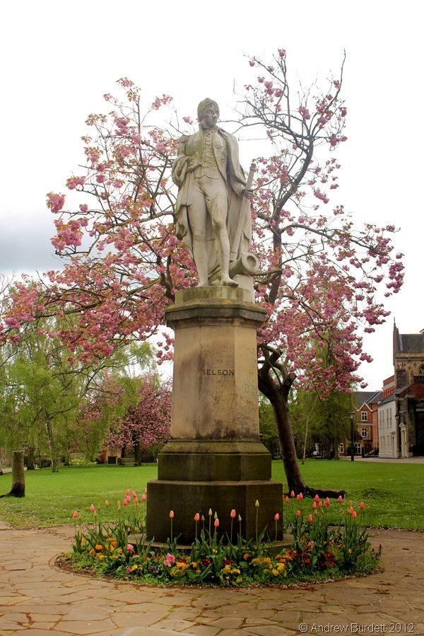 STANDING PROUD: The statue of Nelson - once a student of the cathedral school - that stands in Norwich Cathedral's grounds. (103_IMG_1821_ARB_fixed)