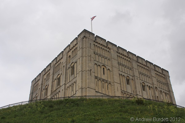 ON WHICH I STAND: The modern section of Norwich Castle seen from the foot of the mound. (170_IMG_1902_ARB)
