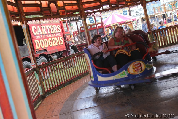 HAVING A WHALE OF A TIME: A mother and daughter ride one of the fastest rides Carters owns. (IMG_2730)
