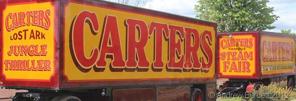 ROLLING INTO TOWN: The Carters lorries parked on the side of the green. (IMG_2743)