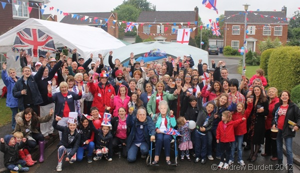 SMILES ALL AROUND: Even the Duke of Edinburgh and the Queen were present at our Diamond Jubilee Street Party, along with 107 other residents. (030_IMG_4066_ARB)