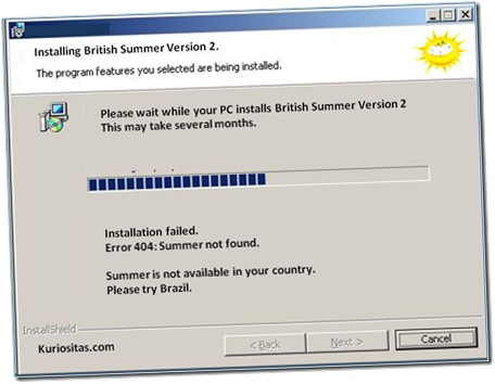 SUN WIZARD: A popular joke about the British weather. (great british summer time 2012)
