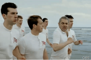 RUNNING SCENE: An extract from the beach running scene VT.