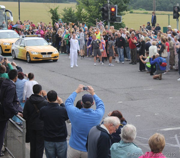 KEEP ON RUNNING: The Torch reaches the T-junction just outside the Best One corner shop. (IMG_8820_ARB)