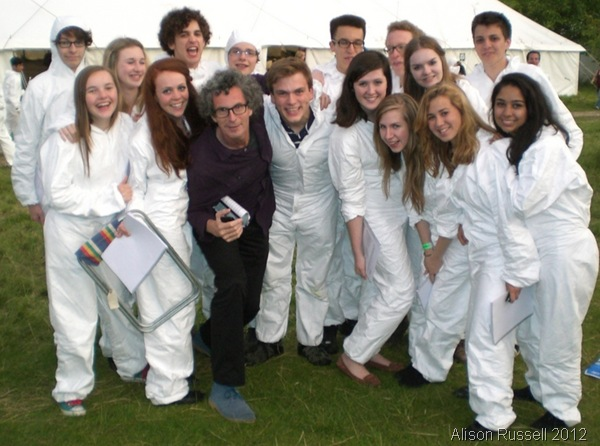 GROUP PHOTO: Orlando Gough (first row, third from L) with me and some of the Taplow Youth Choir. (CIMG6602_AlisonRussell/HENLEY)