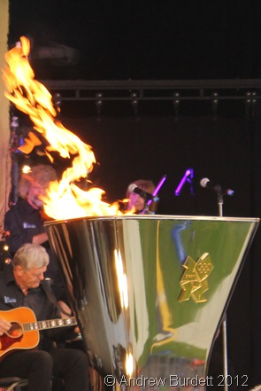 BURNING BRIGHT: I was just back in the Park in time to see the Cauldron lit at the end of Day 52. (IMG_8631/OXFORD)