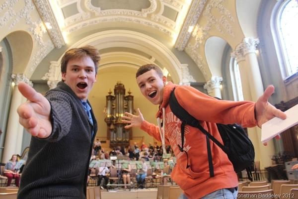 CHECK IT OUT: Myself and fellow Furze Platt chorister Jay Brickell. (IMG_9302)