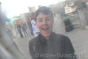 THROUGH THE LOOKING GLASS: Jonathan Baddeley on the Eton side of the bridge. (IMG_9381)