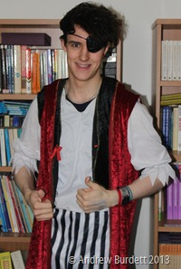 OOH-ARRR: Finn Baxter in his pirate costume. (IMG_6639_ARB)