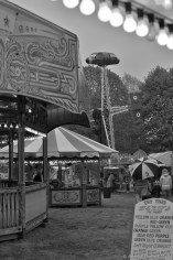 DIVE FOR GLORY: The Victory Dive Bombers in action at an usually quiet Carters Steam Fair this afternoon.