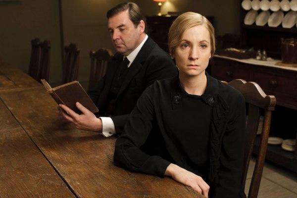 Brendan Coyle as John Bates and Joanne Froggatt as Anna Bates, in ITV's Downton Abbey.