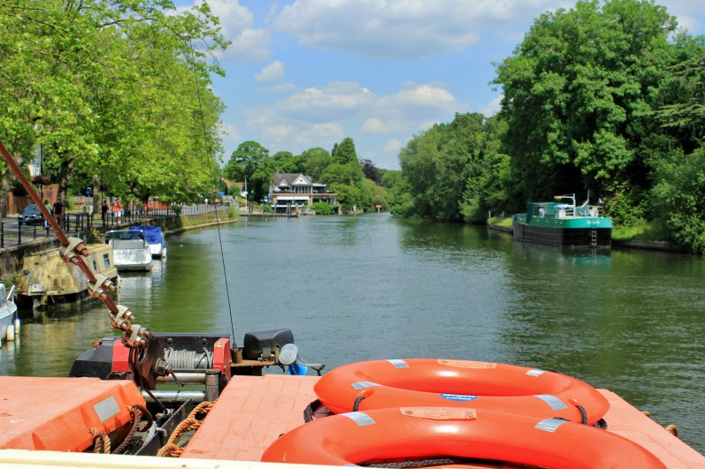 The Thames at Maidenhead, as seen from the party boat.
