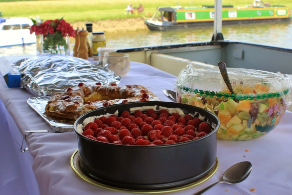 Puddings, made by Richard Burdett, followed the main course. The raspberry cheesecake proved especially popular!