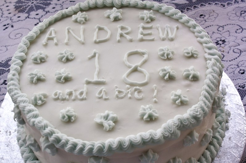 The rich fruit cake, baked and decorated by Richard Burdett – to a generations-old recipe.