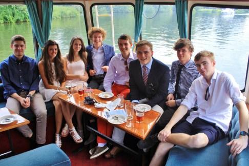 Andrew Burdett with Ben Barrett, Becca Hadaway, Daisy Wallis, Jack Chapman, Jay Brickell, Josh Louch, and Louis Freemantle.