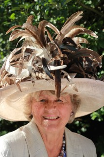 Margaret Burrows wore an impressive hat to the 'Glitz and Glamour' themed party.