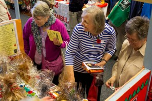 The stall maintained a good number of customers throughout the lunchtime fair.