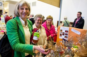 Despite the ongoing furore regarding the Home Secretary's handling of the child sex abuse inquiry – heightened by Fiona Woolf's resignation yesterday (Friday) – Theresa May still found time to tour the fair.