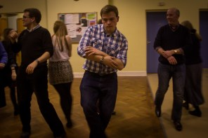 As Matthew and Andrew Burdett danced simultaneously, there was an element of sibling rivalry.