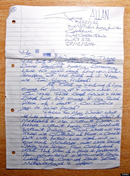 "An ""unnerving"" letter How dare she – 9 January 2015"