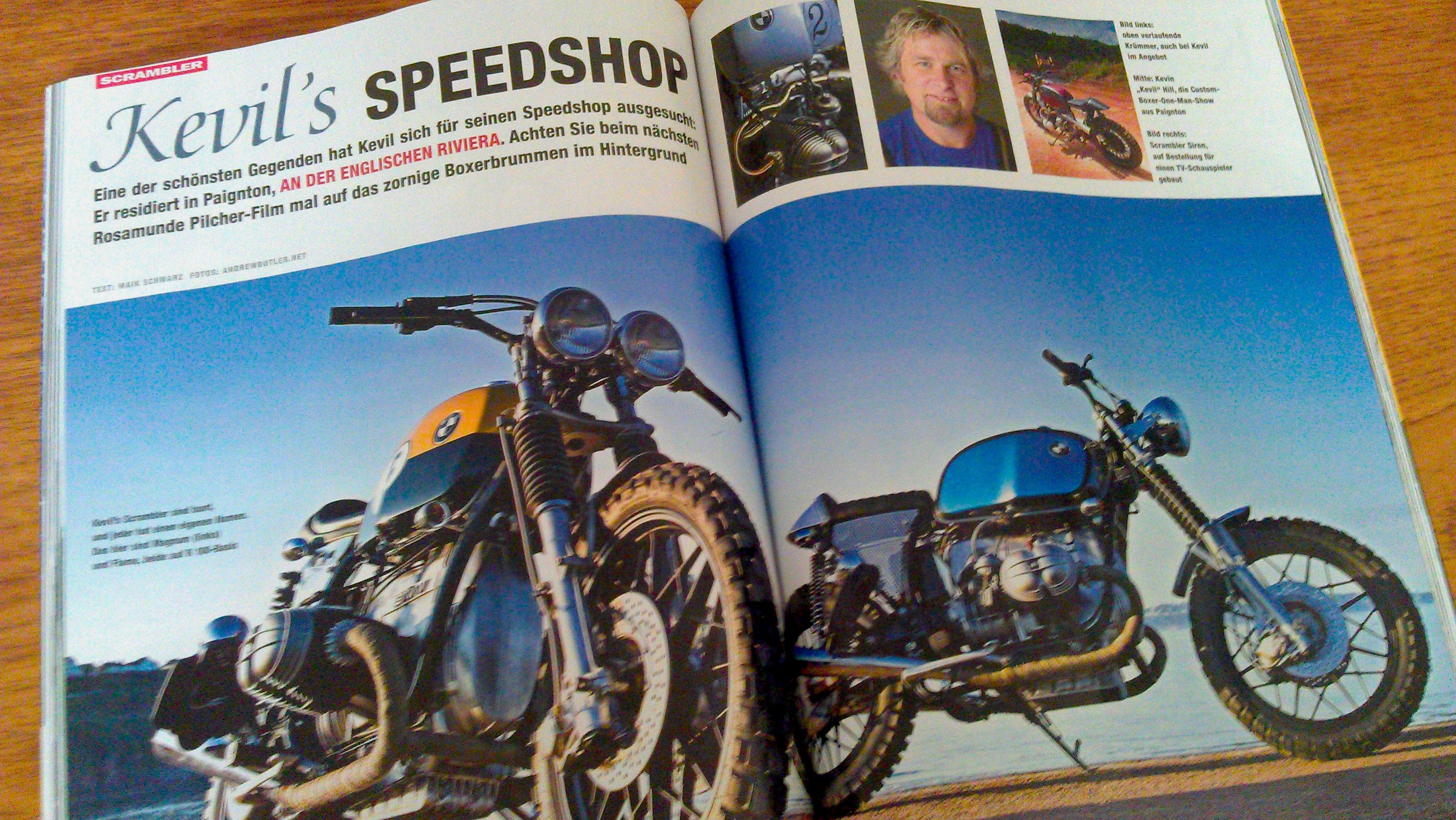 Kevil's bikes photographed for BMW Motorräder by Andrew Butler