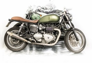 Triumph in Paris photographed by motorbike photographer Andrew Butler