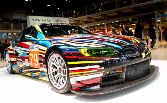 Jeff Koons BMW in Paris photographed by Andrew Butler