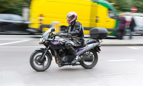 London motorbike pan photograph by Andrew Butler